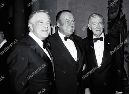 George Peppard, Chief Thomas Reddin and Jimmy Stewart