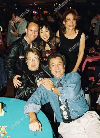 Allan Carr, Didi Conn, Barry Pearl  and Annette Cardona