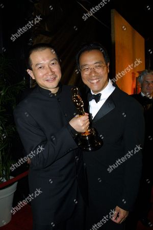 03-25-01  Beverly Hills,CA Tan Dun (Oscar for Achievement in Music in Connection with Motion Pictures - Original Score) and Yo-Yo Ma Sony Post-Oscar party at the Crustacean in Beverly Hills. Photo® Alberto Rodriguez/BEI