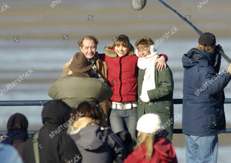 Stock Image of Neville Buswell ( Ray Langton ) with Kate Ford ( Tracy Barlow ) and Anne Kirkbride ( Deirdre Barlow )