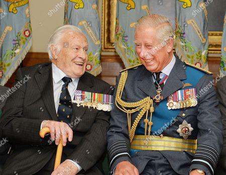 Geoffrey Wellum and Prince Charles