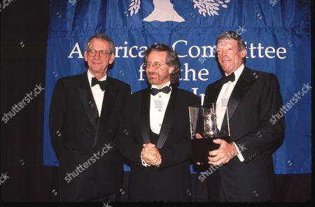 Sid Sheinberg, Steve Spielberg and Michael Foreman