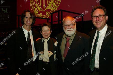 Jay Roach, Dean Elizabeth Daley, Saul Zaentz and Mike Taylor