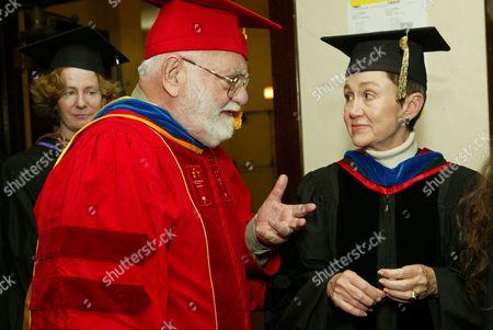 Saul Zaentz and Dean Elizabeth Daley