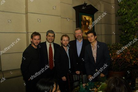 Stock Photo of Dominic Monaghan, Matt Lasorsa, Billy Boyd, and Orlando Bloom