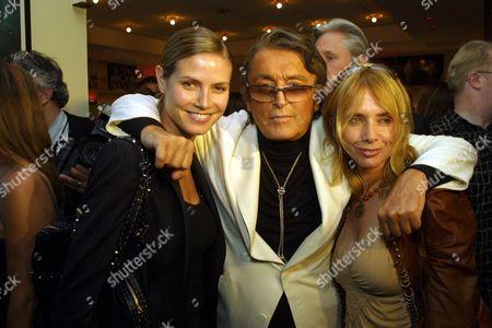 Heidi Klum, Robert Evans and Rosanna Arquette