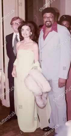 Jackie Onassis and Rosey Grier