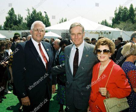 Charlton Heston with wife Lydia Heston