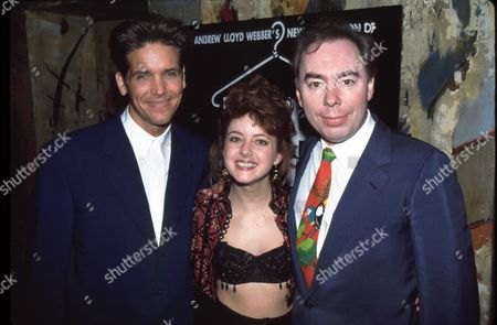 Stock Photo of Michael Damian, Kelli Rabke and Andrew Lloyd Webber