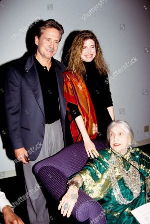 Michael Douglas, Diandra Douglas and Beatrice Wood