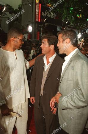 Eriq LaSalle, Mel Gibson and George Clooney