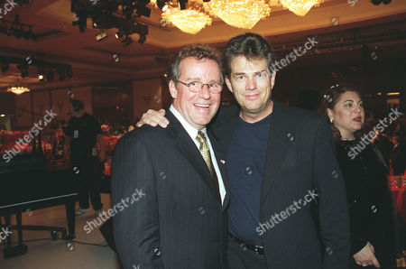 Phil Hartman and musician David Foster