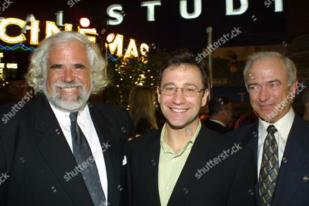 03-28-01  Universal City Walk, CA Sony Executives Jeff Blake Josh Goldstine and Mel Harris at the Hard Rock Cafe on the Universal City Walk for the post premiere party of Sony/Revolution Film's 'Tomcats'  Photo by Alberto Rodriguez ® Berliner Studio/BEImages