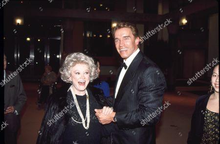 Phyllis Diller and Arnold Schwarzenegger