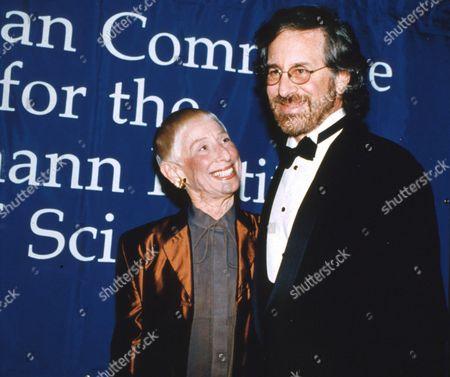 Leah Adler and Steven Spielberg
