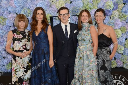 Anna Wintour, Livia Giuggioli, Erdem Moralioglu, Natalie Massenet, Sally Singer