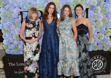 Stock Photo of Anna Wintour, Livia Giuggioli, Natalie Massenet, Sally Singer