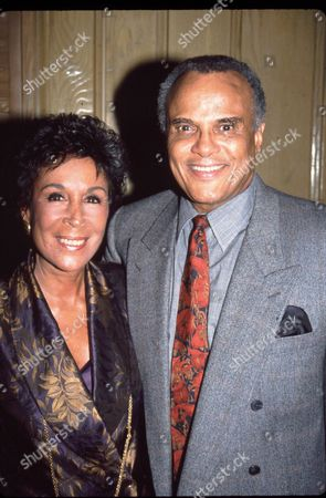 Stock Picture of Harry Belafonte and wife Julie Robinson