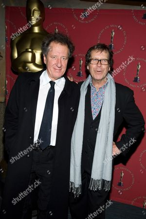 Stock Photo of Geoffrey Rush and Neil Armfield