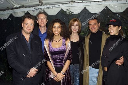 "(L-R)Gary Smith, Chris McGurk, Hadeel Reda, Jamie McGurk, Michael Nathanson and Jessica Resnick at the Winchester/MGM ""Heartbreakers"" party held at The Buffalo Club in Santa Monica.