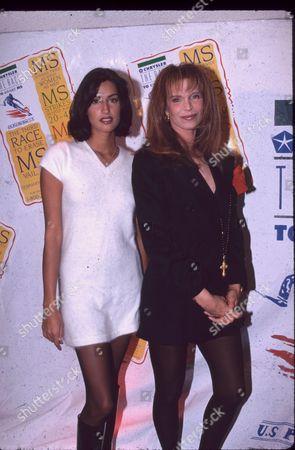 Yasmin Ghauri and Ann Turkel