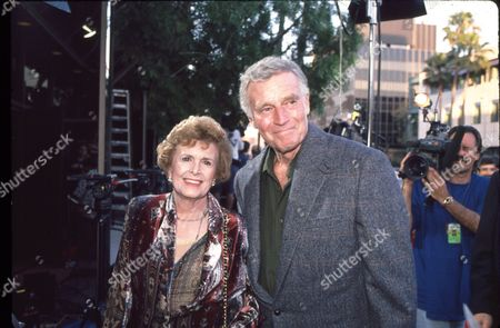 Editorial image of Charlton Heston and wife Lydia Clarke