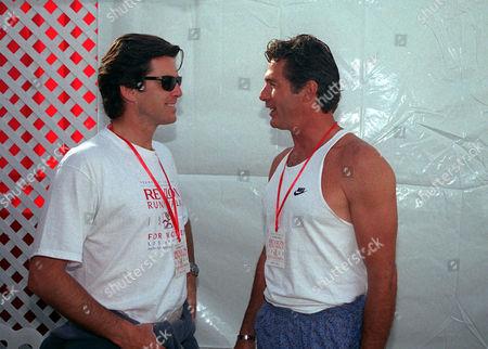 Pierce Brosnan and Jack Scalia