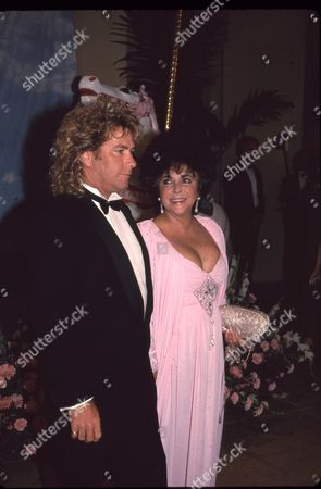 Stock Photo of Larry Fortensky and Elizabeth Taylor