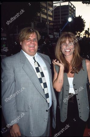 Chris Farley and Tawny Kitaen