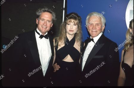 Michael Douglas, Diandra Douglas and Kirk Douglas