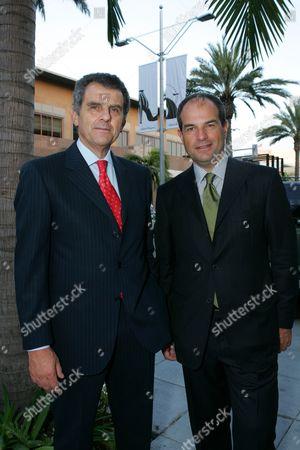 Ferrucio Ferragamo and Massimo Ferragamo