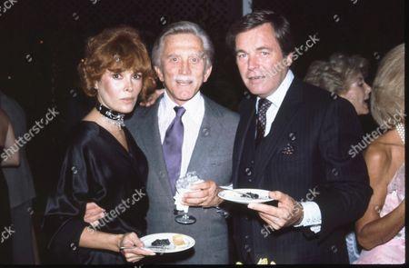 Jill St. John, Kirk Douglas and Robert Wagner