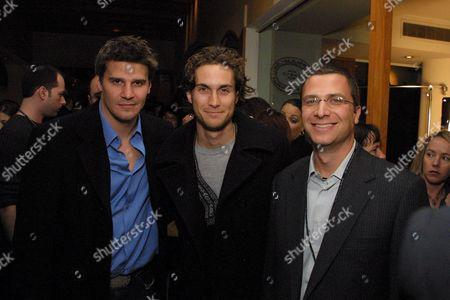 David Boreanaz, Oliver Hudson and The WBs' Jordan Levin