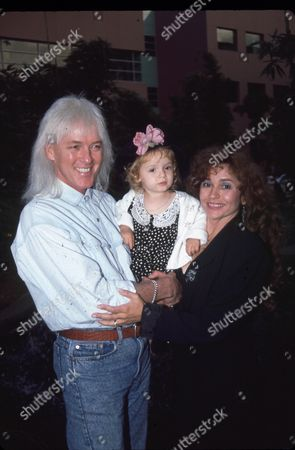 Stock Image of Russell Kunkel, Nicolette Larson & daughter