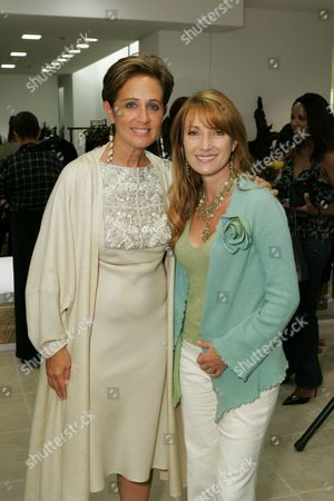 Stock Image of Jane Seymour and Designer Rebecca Moses