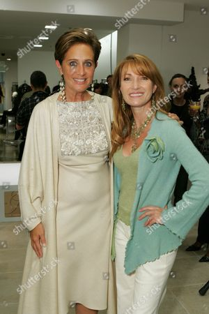 Stock Photo of Jane Seymour and Designer Rebecca Moses