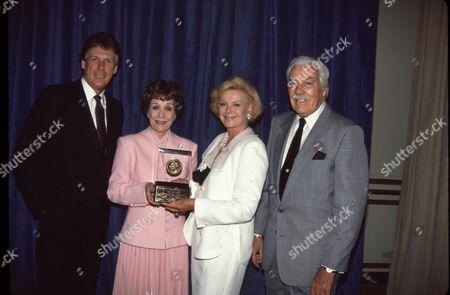 Nolan Miller, Jane Wyman, Barbara Sinatra, Cesar Romero