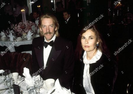 Stock Picture of Donald Sutherland and with wife Francine Racette