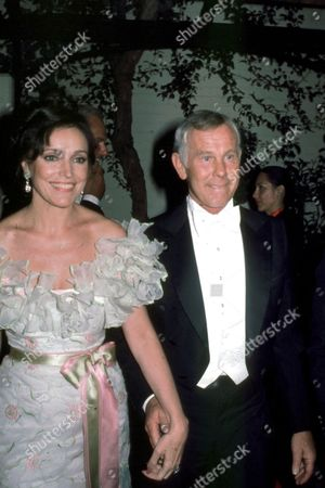 Johnny Carson and wife Joanna Holland