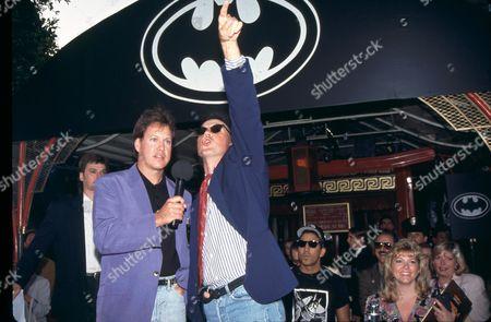 Rick Dees and Michael Keaton