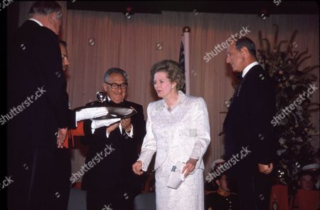 Henry Kissinger, Margaret Thatcher & Sir Denis Thatcher