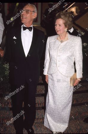 Sir Denis Thatcher and Margaret Thatcher