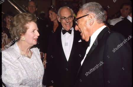 Margaret Thatcher, Sir Denis Thatcher & Henry Kissinger