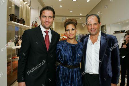 James Ferragamo, Eva Mendes and Massimo Ferragamo