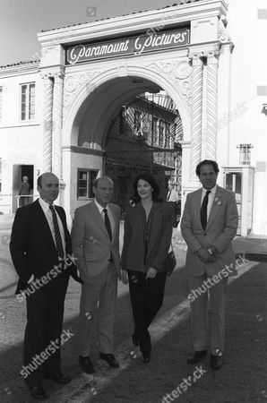 Stock Picture of Stanley Jaffe, Barry Diller, Sherry Lansing and Michael Eisner