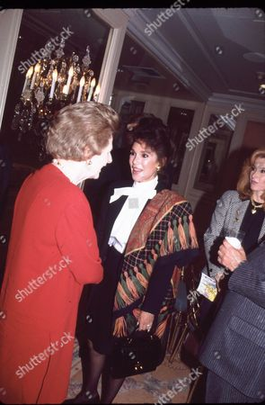 Margaret Thatcher and Mary Ann Mobley