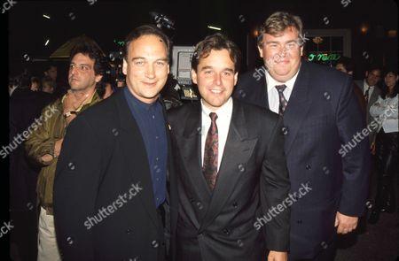 Stock Image of Jim Belushi, Chris Columbus & John Candy