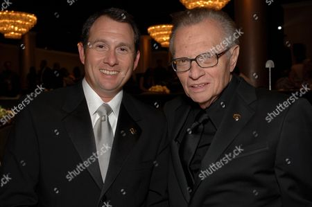 Stock Photo of Larry King Jr. and Larry King