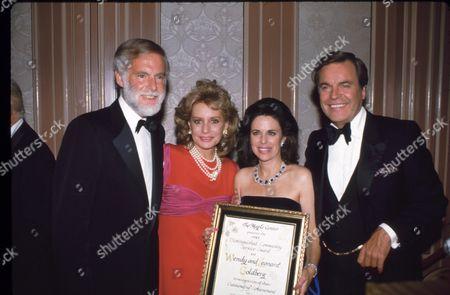 Leonard Goldberg, Barbara Walters, Wendy Goldberg  & Robt Wagner