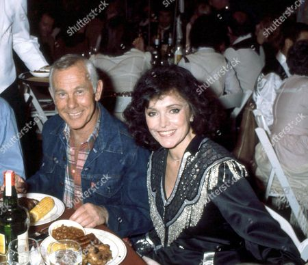 Stock Picture of Johnny Carson and wife Joanna Holland